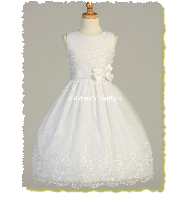 Embroidered Organza Communion Dress