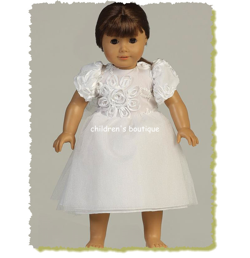Ribbon Communion Doll Dress