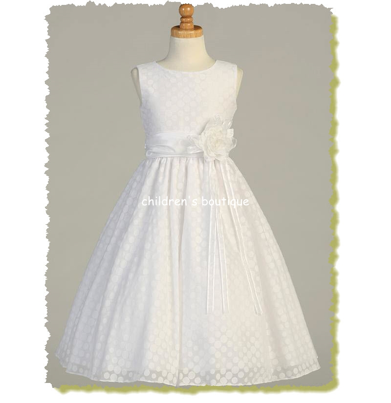 Polka-Dot First Communion Dress