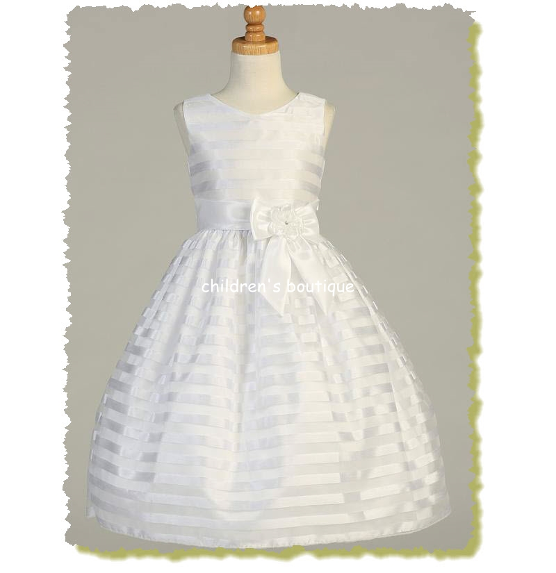 Striped Organza First Communion Dress