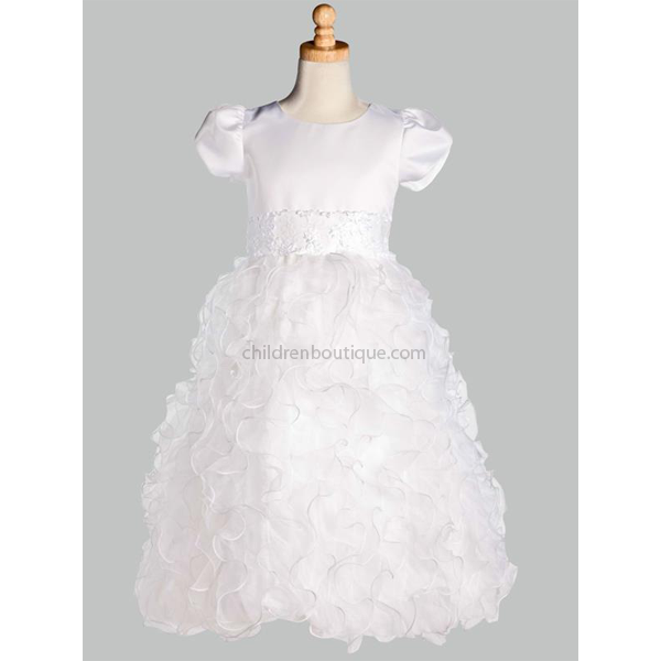 Ruffled Organza Communion Dress
