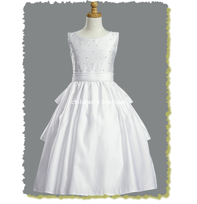 Pearled Girls Communion Dress