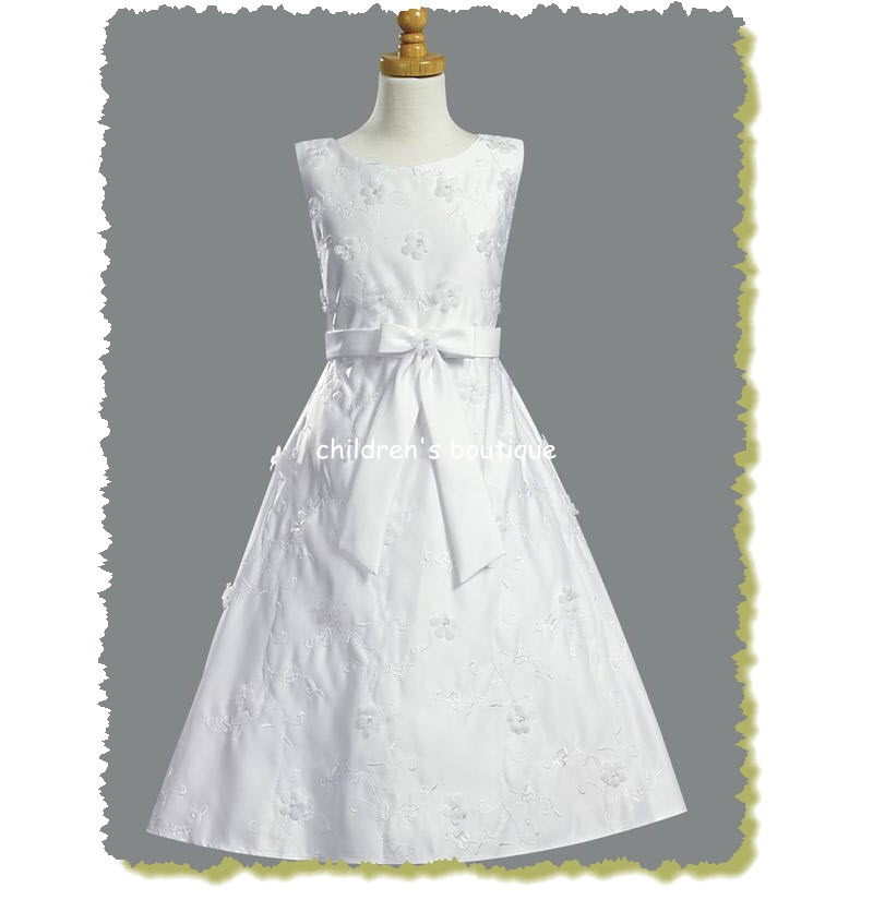 Satin A-Line Communion Dress
