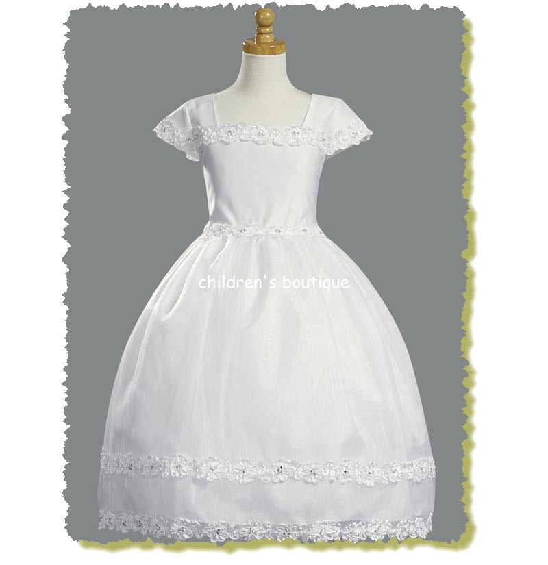 Ribbon Lace Communion Dress