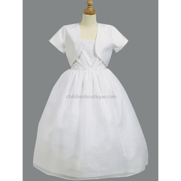 Shantung Bolero Communion Dress