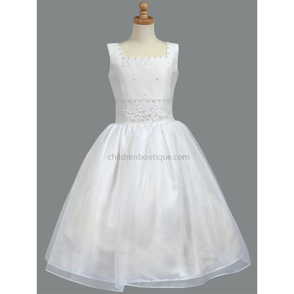 Beaded Satin First Communion Dress