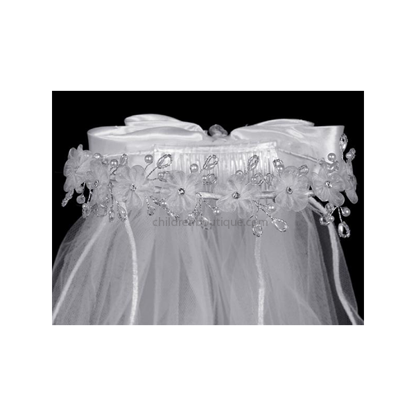 Organza Flower First Communion Veil