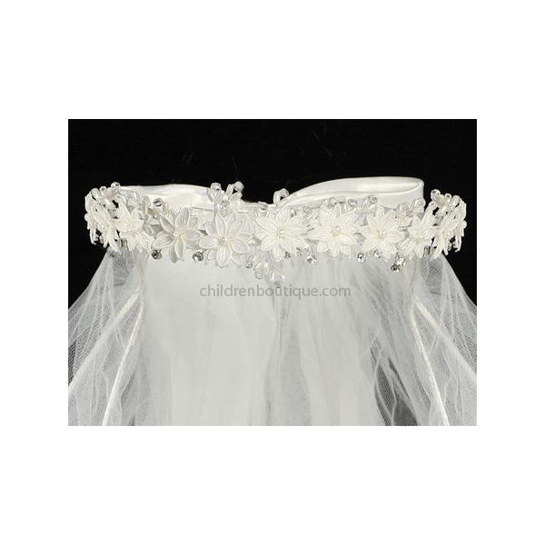 First Communion Veil With Flowers