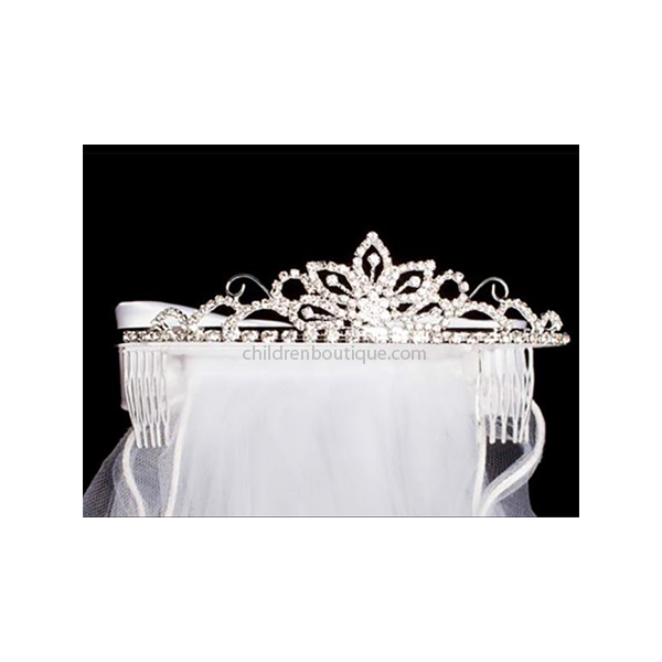 Rhinestone Tiara and Veil