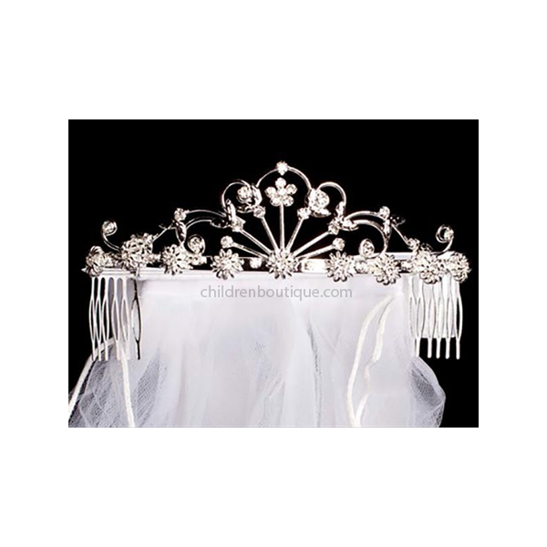 First Communion Tiara With Veil