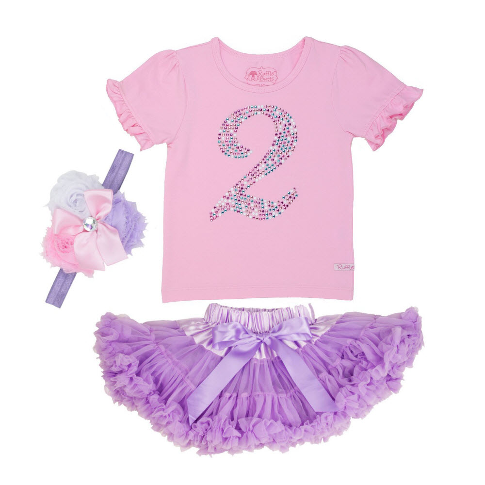 Rufflebutts 3pc Birthday Party Outfit (Age 2)