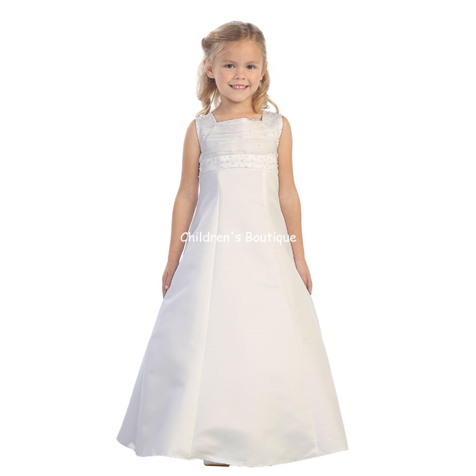 Embroidered Flower Girl Dress