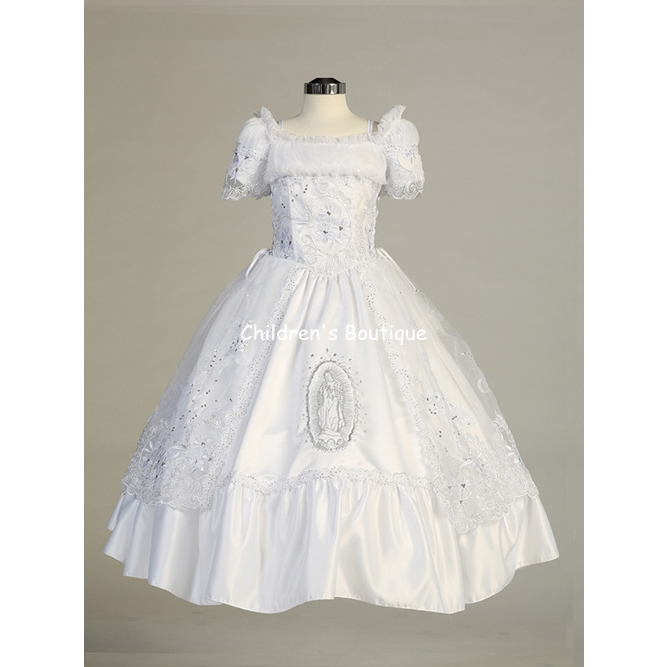 New Communion Dress-Ruffled Organza Edge Portrait