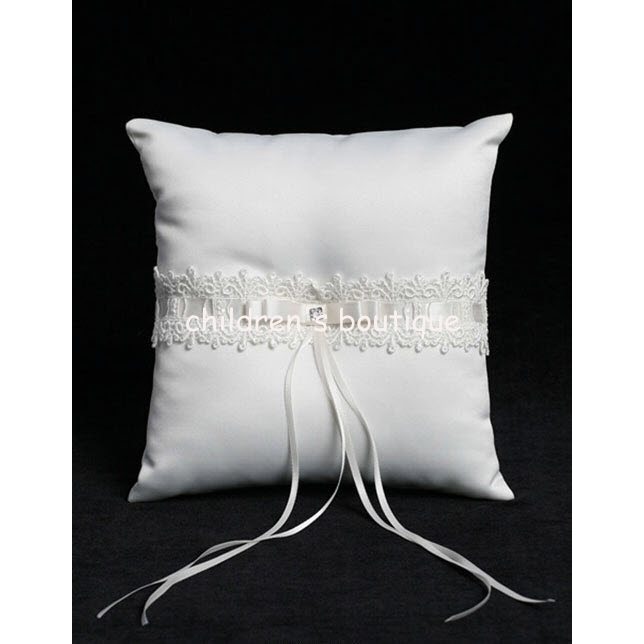 Lace & Satin Ribbon Pillow