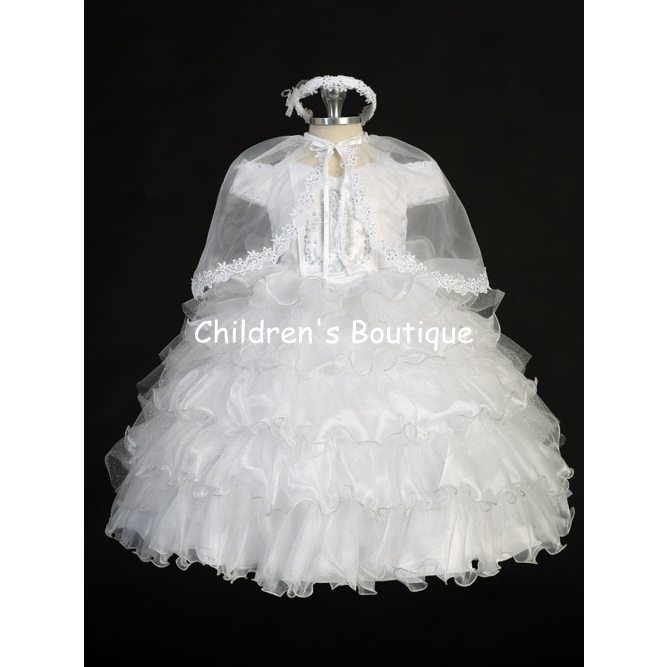 "Criss-Cross Organza and Glitter Tulle Ruffles ""2135\"""