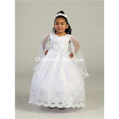 Organza Girls Baptism Dress