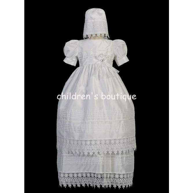 Lace Edged Christening Gown