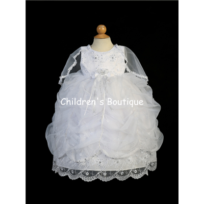 Girls Baptism Dress With Cape