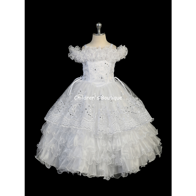 Ruffled First Communion Dress
