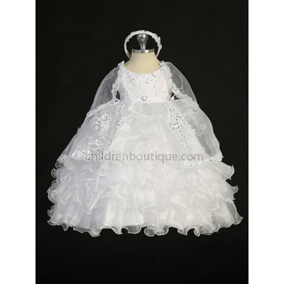Ruffles Baptism Gown