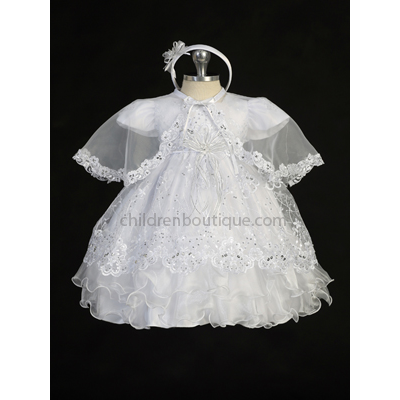Organza Lace Christening Gown