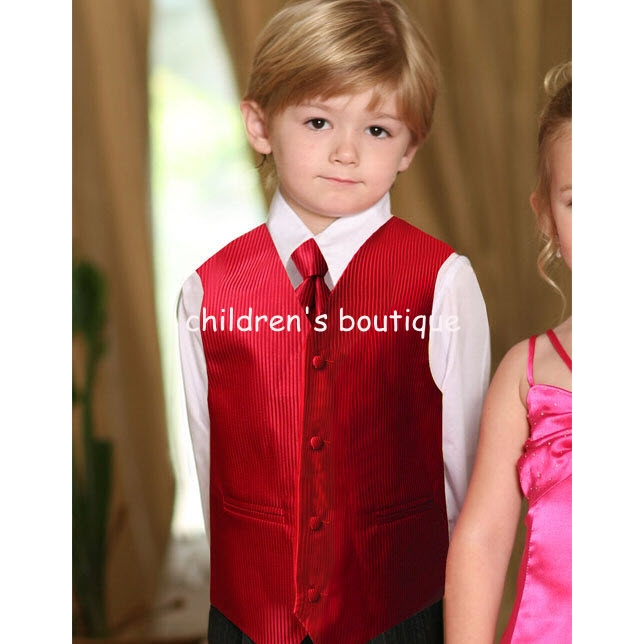 Satin Striped Vest & Windsor Tie Set