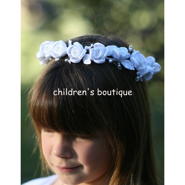 Satin Floral Hair Crown