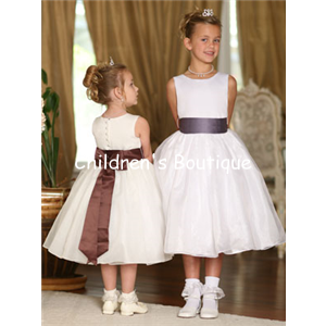 Satin And Organza Flower Girl Dress