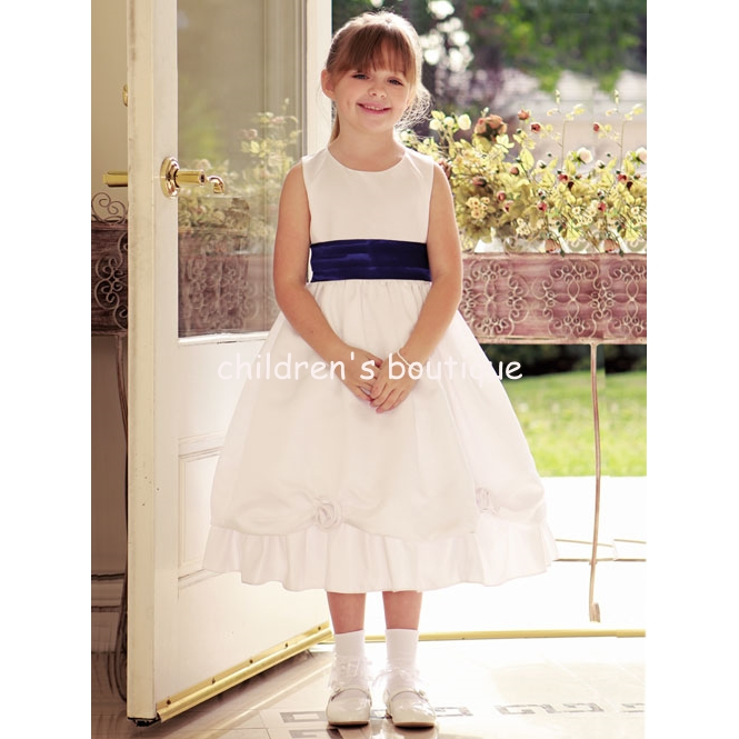Satin Flower Girl Dress