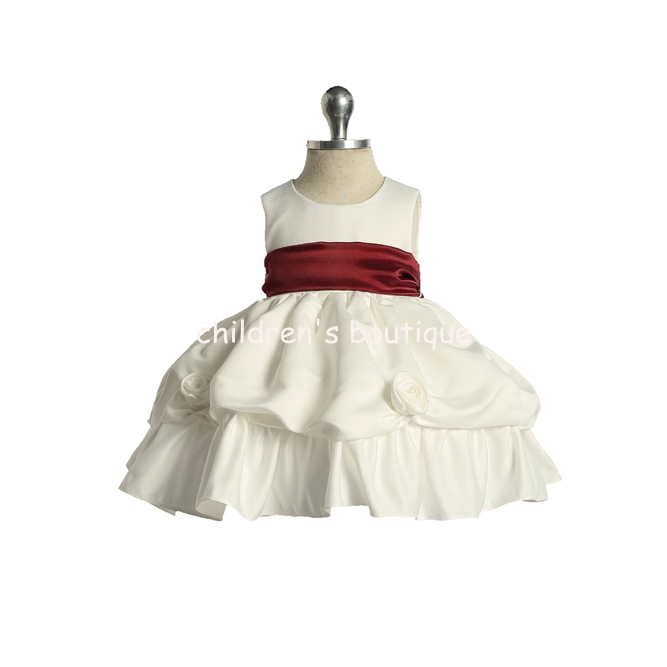 Elegant Satin Baby Girl Dress