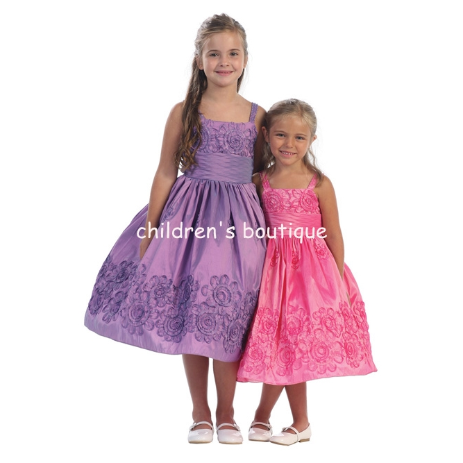 """Fiona"" Taffeta Flower Girl Dress"