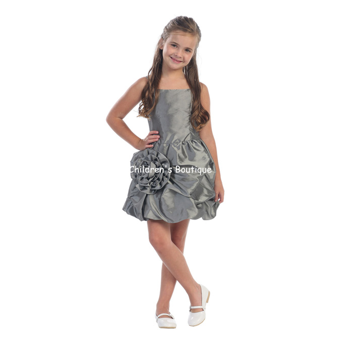 Girls Dress With Pick-Up Skirt