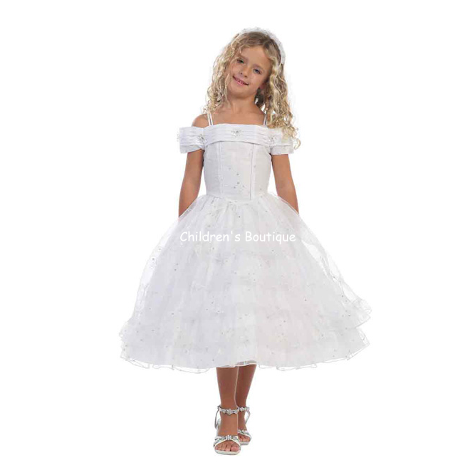 Off The Shoulder Girls Pageant Dress