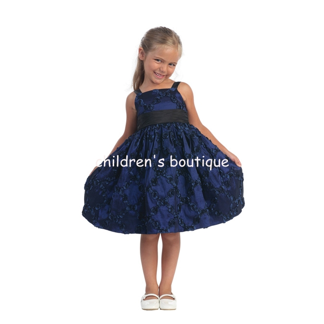 """Emma"" Satin Flower Girl Dress"