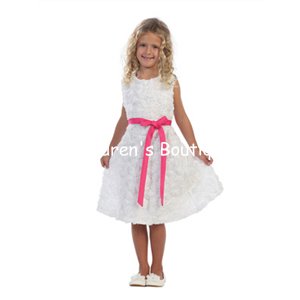 Taffeta Floral Flower Girl Dress