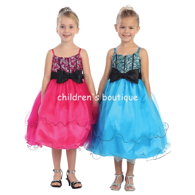 Glitter Ruffled Pageant Gown