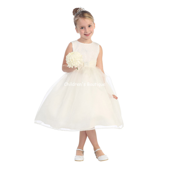 Organza Beaded Flower Girl Dress