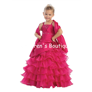 Beaded Taffeta Pageant Dress