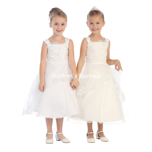 T-Length Flower Girl Dress