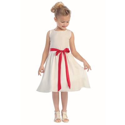 A-line Satin Flower Girl Dress