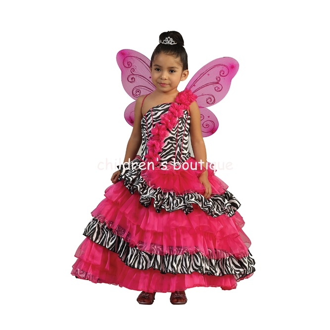 Zebra Ruffled Pageant Gown
