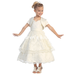 Lace T-Length Flower Girl Dress