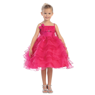 Ruffle Girls Pageant Dress
