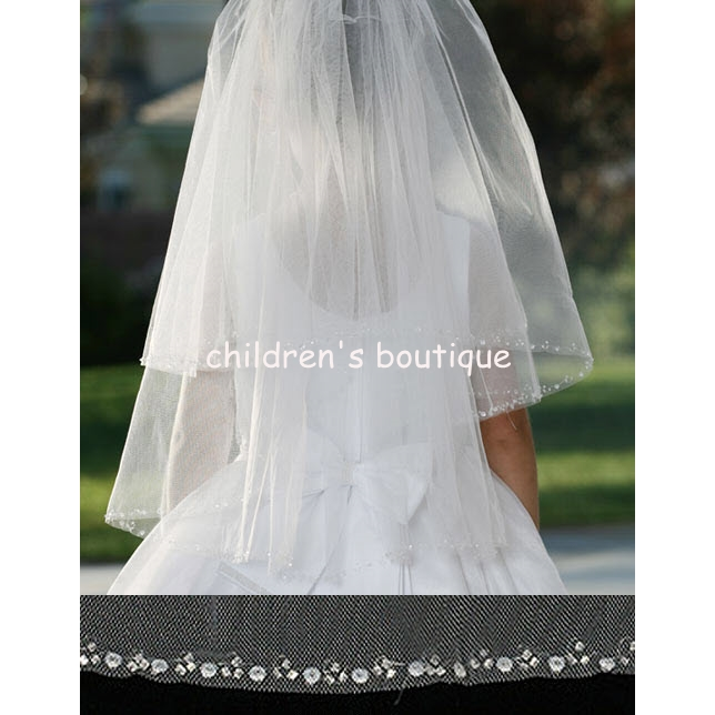 Sequin Edged Communion Veil