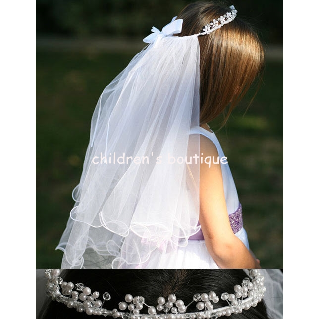 Communion Veil With Pearl Crown