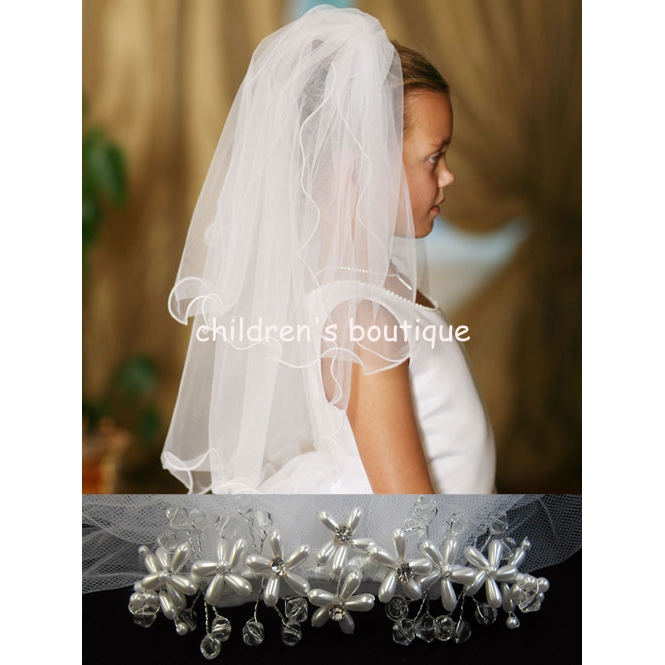 Seed Pearl Communion Veil